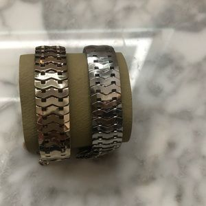 Gold and Silver Metal Bracelets